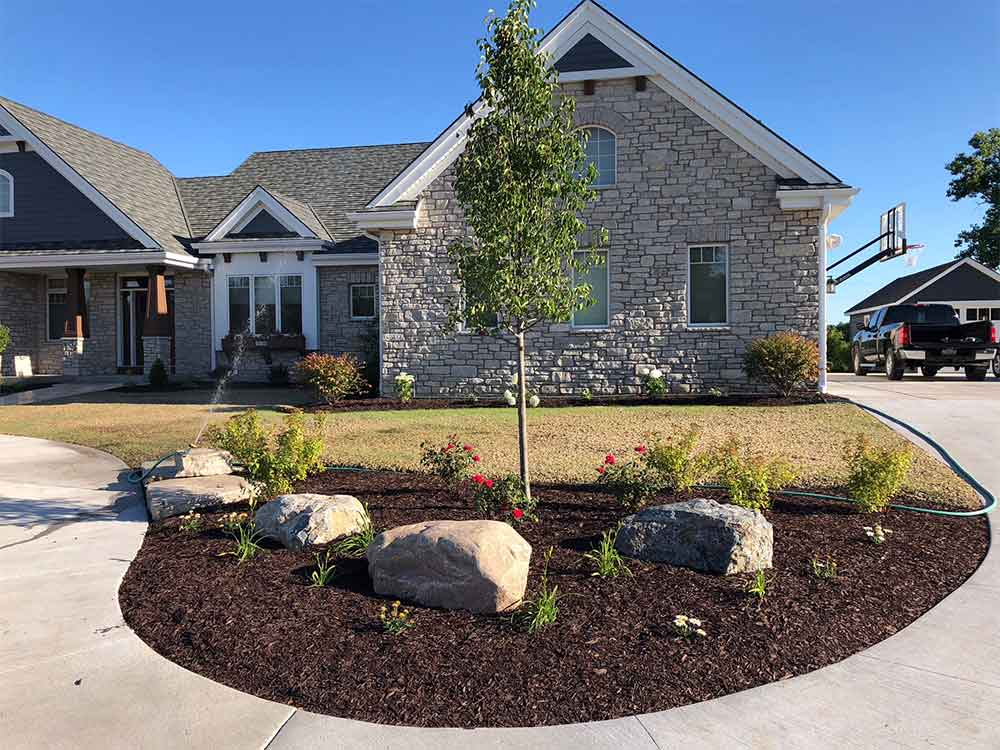 Landscaping ideas for new construction home ross landcare - New home construction ideas ...